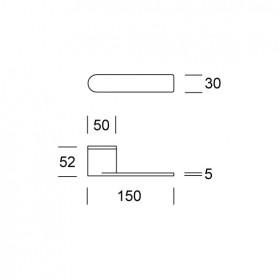 ITH150 - kľučka antikorová-technický list