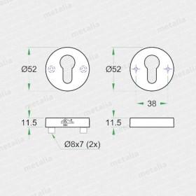 Okrúhla rozeta ES 92349-technický list