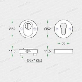 Okrúhla rozeta ES 92351 safe-technický list