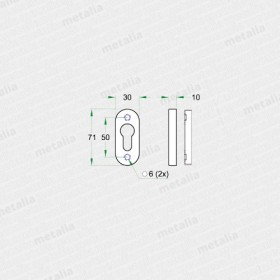 rozeta 50008-technický list