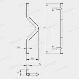madlo Design inox 4802-technický list