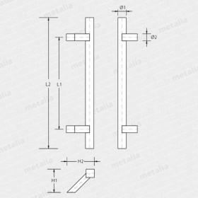 madlo Trento 45°-technický list