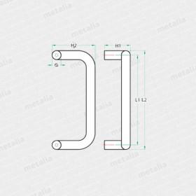objektové madlo PH61-technický list