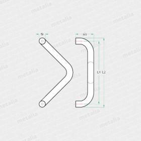 objektové madlo PH62-technický list