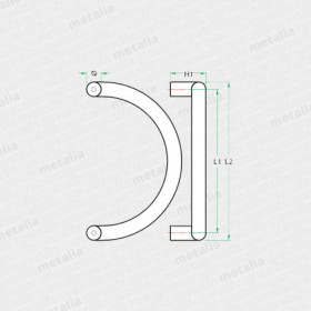 objektové madlo PH63-technický list