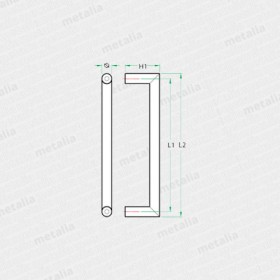 objektové madlo PH64-technický list