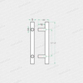 objektové madlo PH70-technický list