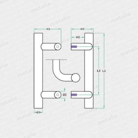 objektové madlo PH85-technický list