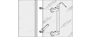 madlo na dvere z PVC
