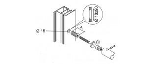 madlo jednostranné záťažové - montáž na drevo, hliník, PVC