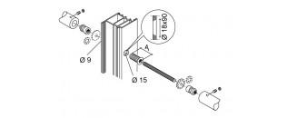 madlo obojstranné záťažové - montáž na drevo, hliník, PVC